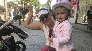 Kyrie McMaster and daughter Meela would enjoy a playground in Queen Street Mall.