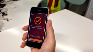 The Queensland government's official COVID-19 check-in app.