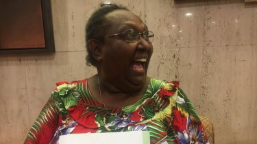 Ivy Trevallion cried tears of joy when the traditional adoption bill was passed in Queensland.
