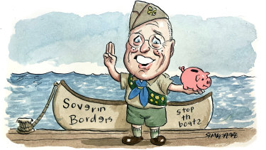 Liberal senator Jim Molan has returned about $4500 in publicly-funded travel expenses in the last six months. Illustration: John Shakespeare