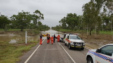 Police from Charters Towers and SES crews in the Townsville District have been out and about over the past few weeks, assisting with the evacuation of stranded motorists and the re-supply of grazing property owners in the area.
