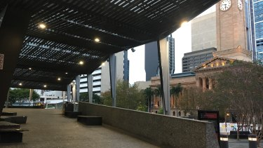"""The upper deck of King George Square where classical music is blasted to curb """"antisocial"""" behaviour."""