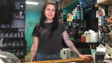Grinds Espresso Rail owner Gina Digweed.