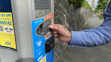 Brisbane parking meters will no longer accept coins from February 22 as most people now use a credit card or their smart phone to pay for meters.