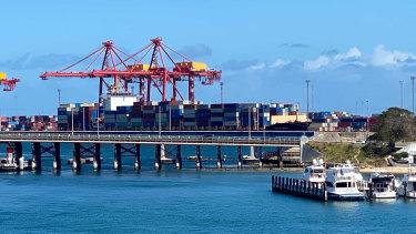 The Kota Legit docked at Fremantle Port.