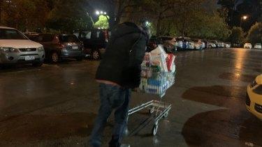 Ali Muhammad outside the Flemington public housing towers on Saturday night.