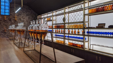 Whisky tasting at Glenlivet, Speyside, Scotland.