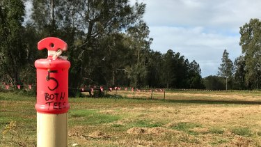 Markers have been laid out for Brisbane's first new golf course in 70 years, at Cannon Hill.