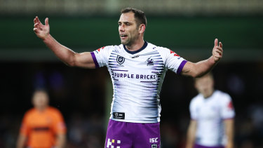 Cameron Smith will play on next year, but perhaps not in his customary No.9 jersey.