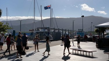 Cairns is a key battleground in the Queensland state election, with tourism a major issue.