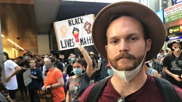 Ben Carter from Brisbane said he joined the protest to show support to groups asking for black justice.
