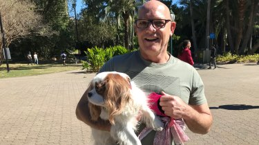 Todd Simpson and his King Charles spaniel Daisy would love to travel on Brisbane's CityCats.