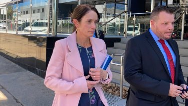 Susan Forte leaving the Toowoomba Courthouse this afternoon.