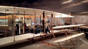 The Wright Brothers plane atthe National Air and Space Museum, Smithsonian, Washington DC.