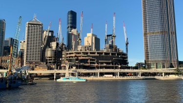 Several workers walked off the Queen's Wharf construction site in Brisbane on Tuesday over asbestos fears.