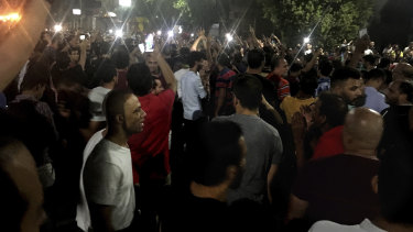 Dozens of people attended the rate protest in Cairo, calling for the Egyptian president to step down.