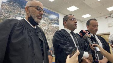 Defence lawyers Yehuda Fried, Tal Gabbai and Nick Kaufman.