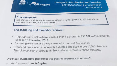The announcement from Transport for NSW.