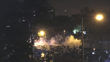 Tensions high: the police siege of student protesters at Hong Kong Polytechnic University.