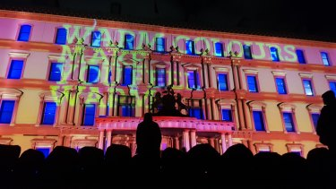 The Sensoria projection injects some warmth into a chilly White Night