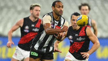 Travis Varcoe was racially abused after Collingwood's loss to Essendon.