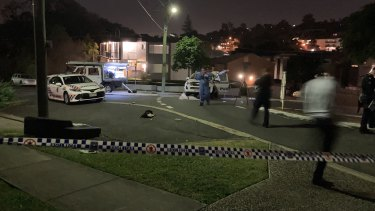 The crime scene in Newmarket after the fatal stabbing.