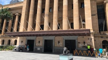 Brisbane City Hall defaced with 'Sovereignty' graffiti