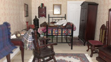 One of the 56 fully furnished rooms in Mrs Putnin's 'pride and joy', her dollhouse.
