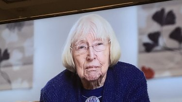 Merle Mitchell appears at the Royal Commission into Aged Care in Sydney.