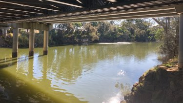 A view from across the Georges River towards the contaminated Inglis site.