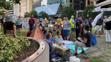 Extinction Rebellion protesters plan to march through a number of sites in the Brisbane CBD on Thursday before occupying another.