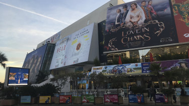 Not business as usual ... the usual setting for Mipcom, the Palais des Festivals in Cannes, France.
