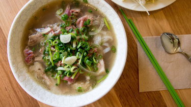 Rare beef and brisket pho.