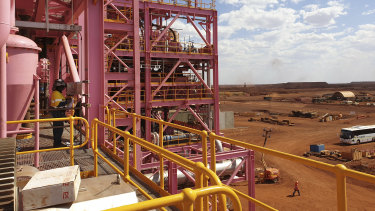 Hancock Prospecting's Roy Hill iron ore mine in Pilbara.