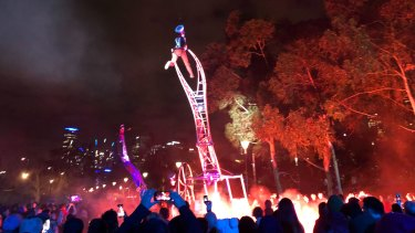 Odd Platoon, at Birrarung Marr for White Night 2019