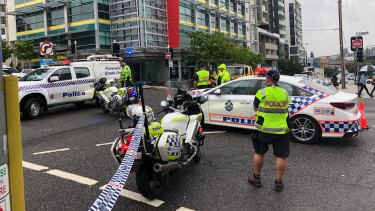 A motorcyclist is in a critical condition after a collision with a truck inSouth Bank on Wednesday morning.