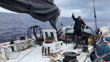Heyes and seven other delivery crew members sailed 25 days straight from San Diego to Brisbane to deliver his boat, the 80-foot Stefan Hair, for the Boxing Day race.