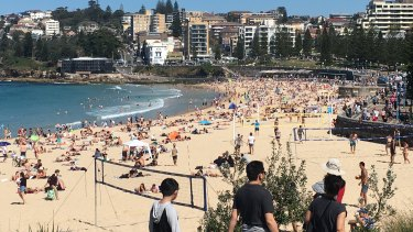 Swimmers made the most of the warm weather at Coogee beach on Sunday.