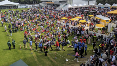 Extremely civilised: Cricket fans enjoying at picnic lunch at Lord's Cricket Ground.