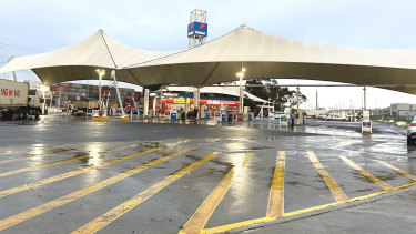 The United petrol station in Port Melbourne, on the way out of Melbourne towards Geelong.