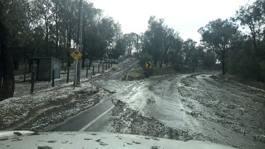 A large hailstorm hit Warrandyte on Sunday afternoon.