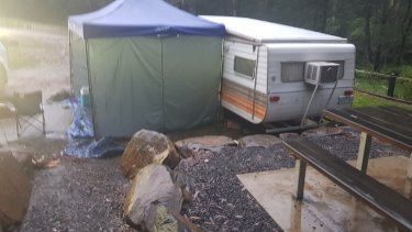 Police hope that anyone who was in the area at the time recognises Mr Crouch's campsite.