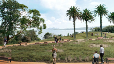 An artist's impression of the wheelchair accessible path through South Head national park.