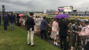Trackside at the Oaks