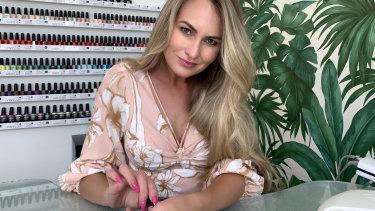 Skye McIntyre in her salon in Penrith, Sydney.