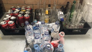Most aluminium, glass, plastic and cardboard drink containers between 150ml and 3 litres can be recycled for cash.