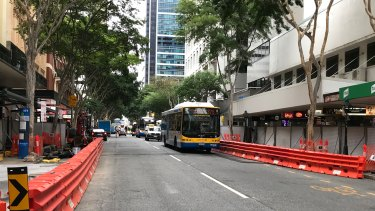 New pedestrian crossing is being built in Brisbane's Adelaide Street after nine people have been hit by cars or buses in five years. One woman died in 2018.