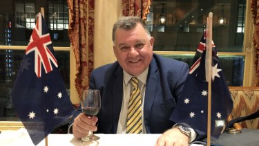 Liberal MP Craig Kelly was constantly asked about the ABC by guests at the Australian Monarchist League dinner.
