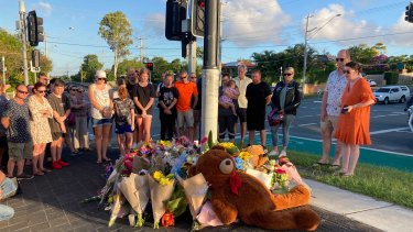 A vigil was held at the intersection where the couple died.