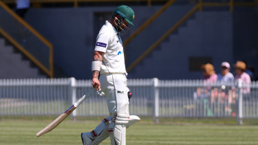 Matthew Wade was dismissed in dreadful fashion at Drummoyne Oval.